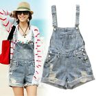 WOMENS GIRLS RIPPED DENIM Jeans JUMPSUIT HOLE JEANS SHORTS CASUAL OVERALL ROMPER