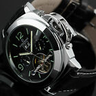 Luminous Men's Automatic Tourbillon Mechanical Sport Military Army Wrist Watch
