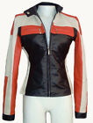 Women Biker Motorcycle Leather Jacket Multi-Color Sz XS-3XL or Custom Made