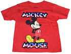 Disney Boys T Shirt Americana USA Boys Mickey Mouse Standing Red FREE SHIPPING