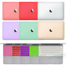 "Rubberized Macbook 12"" inch Hard Case Protective Cover + Silicone Keyboard Guard"