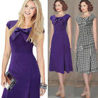 NEW ROCKABILLY 50s DRESS 2015 VINTAGE PIN UP PARTY EVENING SWING PROM MIDI DRESS