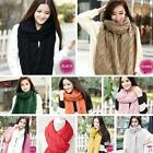 HO US Fashion Winter Women Men Braided Knit Wool Long Scarf Wrap Shawl Scarve