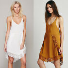 Summer Lace Trim Women's Cocktail Prom Ball Tank Night Out Club Party Slip Dress