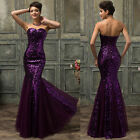MERMAID Long Evening Formal Party Bridesmaid Wedding CELEB Gowns Prom Dress 2015