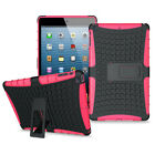 iPad Dual Layer Hard Shockproof Cover Hybrid Rugged Case with Kickstand