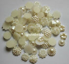 Flatback Flower Pearls Scrapbooking DIY Crafts Beads Embellishment Multi Styles