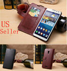 Deluxe Leather Card Flip Wallet Stand Case Cover for Huawei Ascend Mate 2 II