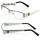 c64b7c454b4 Khan Mens Women Clear Fake Lens Rectangular Eye Glasses Nerd Retro Fashion  Frame