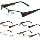 Khan Mens Women Clear Fake Lens Rectangular Eye Glasses Nerd Retro Fashion Frame