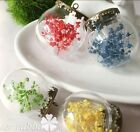 Mini Clear Ball Glass Bottle Cover Cameo Cabochon Jewelry Making Pendant Earring
