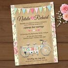 Personalised Wedding Evening Invitations & Envelopes *Tandem Bike Bunting