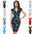 SEXY LADY SLIM BODYCON 50s ROCKABILLY VINTAGE STYLE PINUP SWING HOUSEWIFE DRESS