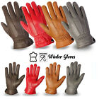 Ladies Leather Gloves Soft Leather Thermal Winter Warm Dress Gloves