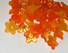 Acrylic Flower Beads Frosted Lucite Baby Petal 10mm Orange Mix