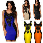 Fashion Women Lace Sleeveless Slim Party Cocktail Dress Evening Dress Size S-XL