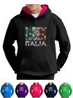 Bling Italia Hoodie Flag World Cup Rugby Euro Football Smartphone Compatable
