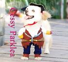 Cute Pet Dog Puppy Cat Muscle Swashbuckling Pirates Captain Jack Sparrow Costume