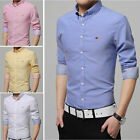 Solid Color Casual Long-sleeve Men's Shirts Camisas Social Slim 7 Color T6253