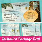 Package Deal: Wedding Invitation, RSVP Card & Gift Poem Card *Tropical Beach