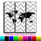 Maps - Abstract Chevron Map Canvas Art Print Treble Box Framed Picture 6