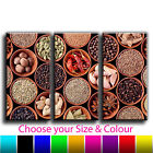 Indian Spice Pots Canvas Art Print Treble Triptych Box Framed Picture 5