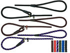 DOG ROPE SLIP LEADS,HANDMADE,STRONG,ANTI PULL,TRAINING LEASH,LEAD AND COLLAR
