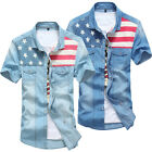 NEW Men Star-Spangled Banner Fit Slim Tops Short Sleeve Shirt T-Shirts Tee Tops