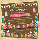 Personalised Wedding Day Invitations & Envelopes *Bunting Summer Fete