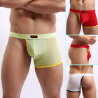 Sexy Mens Cheeky Briefs Pouch Thong Jockstrap G-string Underpant Underwear Boxer