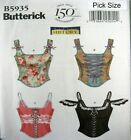 Butterick Sewing Pattern 5935 Ladies Bustier Bodice Top Costume Choose Size