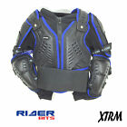 KIDS BODY ARMOUR DEFLECTOR JACKET BLACK BLUE MOTOCROSS QUAD BIKE MX OFFROAD HARD
