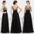 UK Formal Long Cocktail Prom Evening Party Bridesmaid Wedding Maxi Dress RED NEW