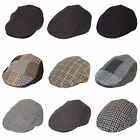 Mens Womens Flat Country Tweed Baker Baseball Newsboy Golf Unisex Hat Cap New