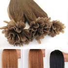 "22""120g Pre Bonded Keratin Glue Nail U Tip Remy Human Hair Extensions Straight"