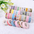 5 PCS 1.5cm×10M DIY paper Sticky Adhesive Sticker Decorative Washi Tape