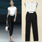Women Casual High waist Cocktail Evening Party Overall Jumpsuit Romper Long Pant