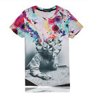 Galaxy Multicolor T-shirt 3D Funny Fashion Tee Short Sleeve Women Men Hiphop Top