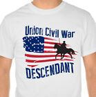 Union Civil War Descendant Flag T-Shirt with Free Car Decal