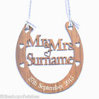 Personalised Wooden Wedding Good Luck Horseshoe Bridal Gift lucky Keepsake Wood