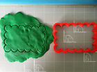 Scalloped Cookie Cutter- Cookie stick wide size