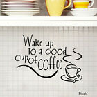 New White/Black Kitchen Coffee Cup Removable Wall Stickers Decal Home Decor Art