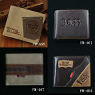 FM-2 Men's wallet money BIFOLD Genuine Leather purse + Gift Box Free Shipping