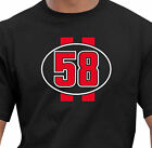 Classic Marco Simoncelli Race Number Tribute T-Shirt