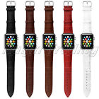 Genuine Leather Stainless Steel Buckle Wrishwatch Strap for Apple Watch 38 42 mm