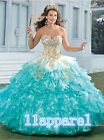 2018 Ball Gown Quinceanera Dress Beaded Formal Prom Party Wedding Dresses Custom