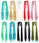 120 cm Long Vocaloid Hatsune Miku 2 Ponytails Cosplay Anime Wigs + Free Wig Cap