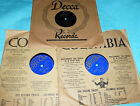 """Woody Herman 3X10"""" 78 rpm Lot on Decca BLUES IN THE NIGHT, LOVE ME A LITTLE"""