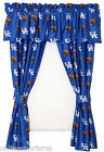 Kentucky Wildcats Curtains Drapes & Valance Set with Tie Backs