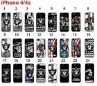 Oakland Raiders iPhone 4 / 4s Case Hard Silicone Case #